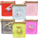 [NEW] Sanrio Transparent Color PVC Squire Mini Pouch- Hello Kitty | Cinnamoroll | My Melody | Bad-Badtz-Maru | Pom Pom Prin | Little Twin Stars