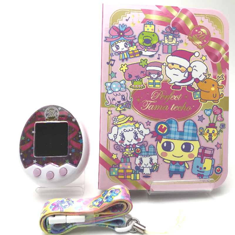 [Used] Tamagotchi m!x Anniversary Gift Set No Box w/Strap and Techo Japan  2017
